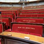 Assemblée nationale : bancs des ministres