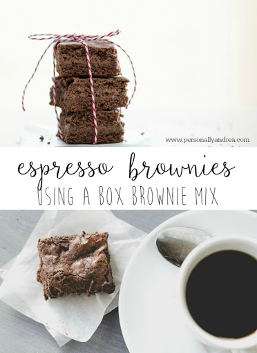 Espresso Brownies Using a Boxed Brownie Mix Personally Andrea