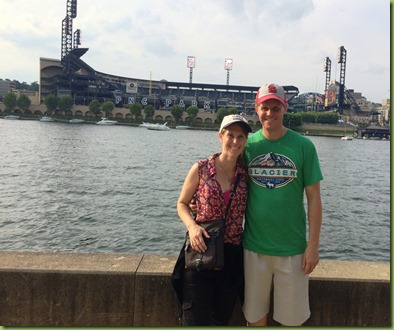 Pittsburgh - Bob and kristi with PNC park