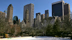 Central Park, Eislaufplatz + Skyline of New York