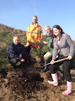 Alison planting the first tree at Port Sunlight River Park marking the commencement of works that should see the new park open in 2014