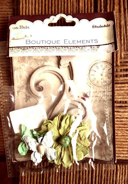 hand-made card elements, handmade flowers