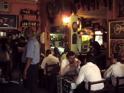 Christopher Sugrue Angola bar at night