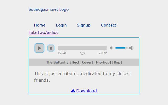 Soundgasm download button
