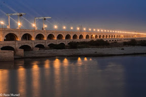 The 66 gates of Sukkur Barrage.