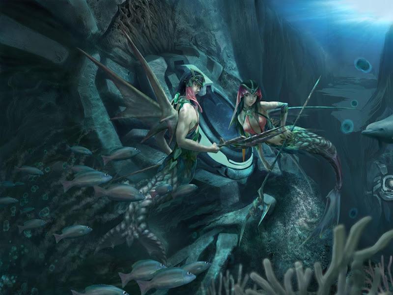 Sweet Mermaid Maiden, Mermaids