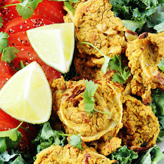 Spicy Chipotle Onion Pucks [Vegan, Gluten-Free, Oil-Free]