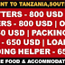 Tanzania, South Africa Recruitment | Food + Transport + Medical Insurance by Company