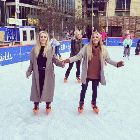 Outdoor ice skating in Manchester for Christmas.