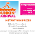 Dunkin Donuts Gift Card Instant Win Giveaway 42,000 Winners Win $10 or $5 Gift Cards. Daily Entry, Ends 8/30/21