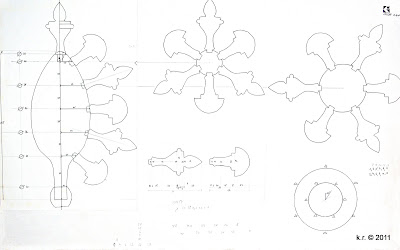 Gesamtzeichnung der Kolbenblüte