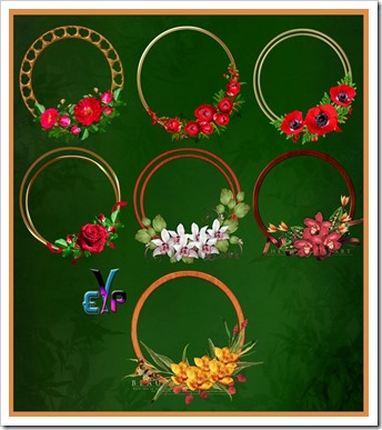 Awesome round floral frames
