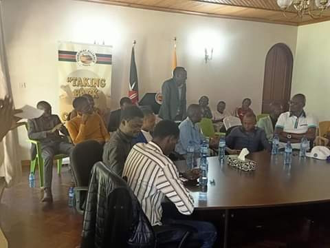 Punguza Mzigo Thirdway Alliance team at party headquarters. PHOTO | BMS