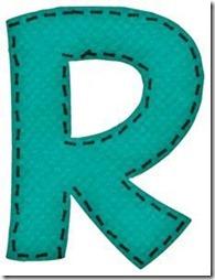r letras verdes