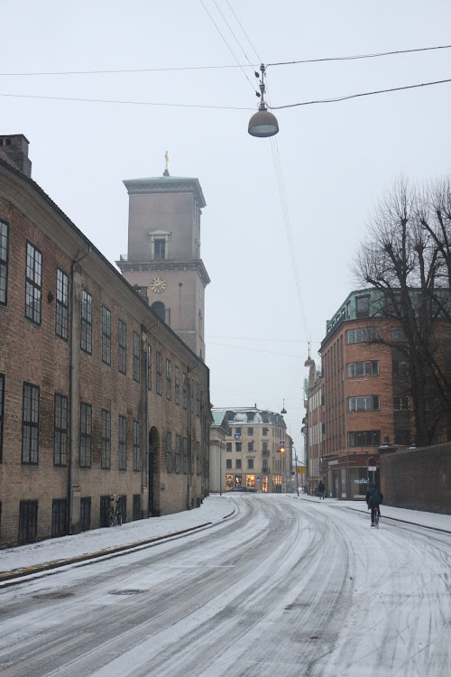 Snow in Copenhagen