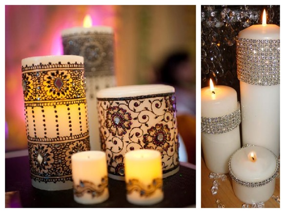 decorative candle decor weddings