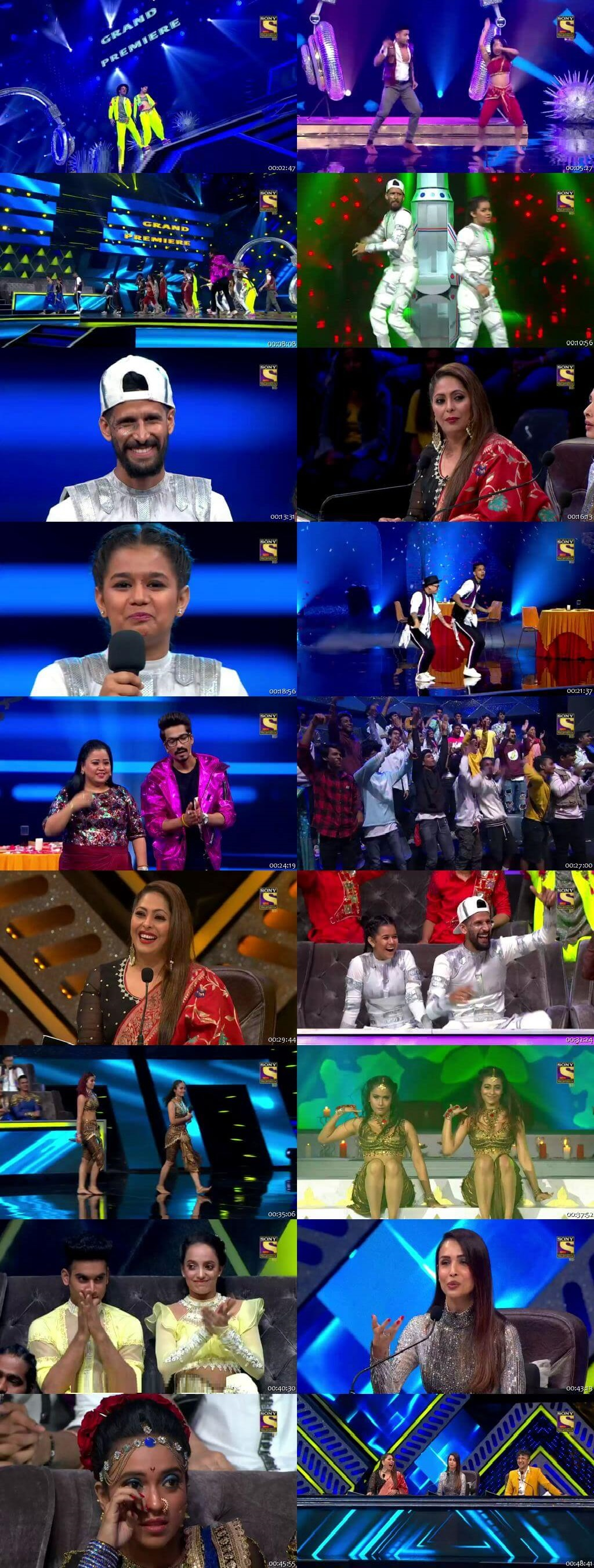 Screenshots Of Hindi Show Indias Best Dancer 28th March 2020 Episode 09 300MB 480P HD
