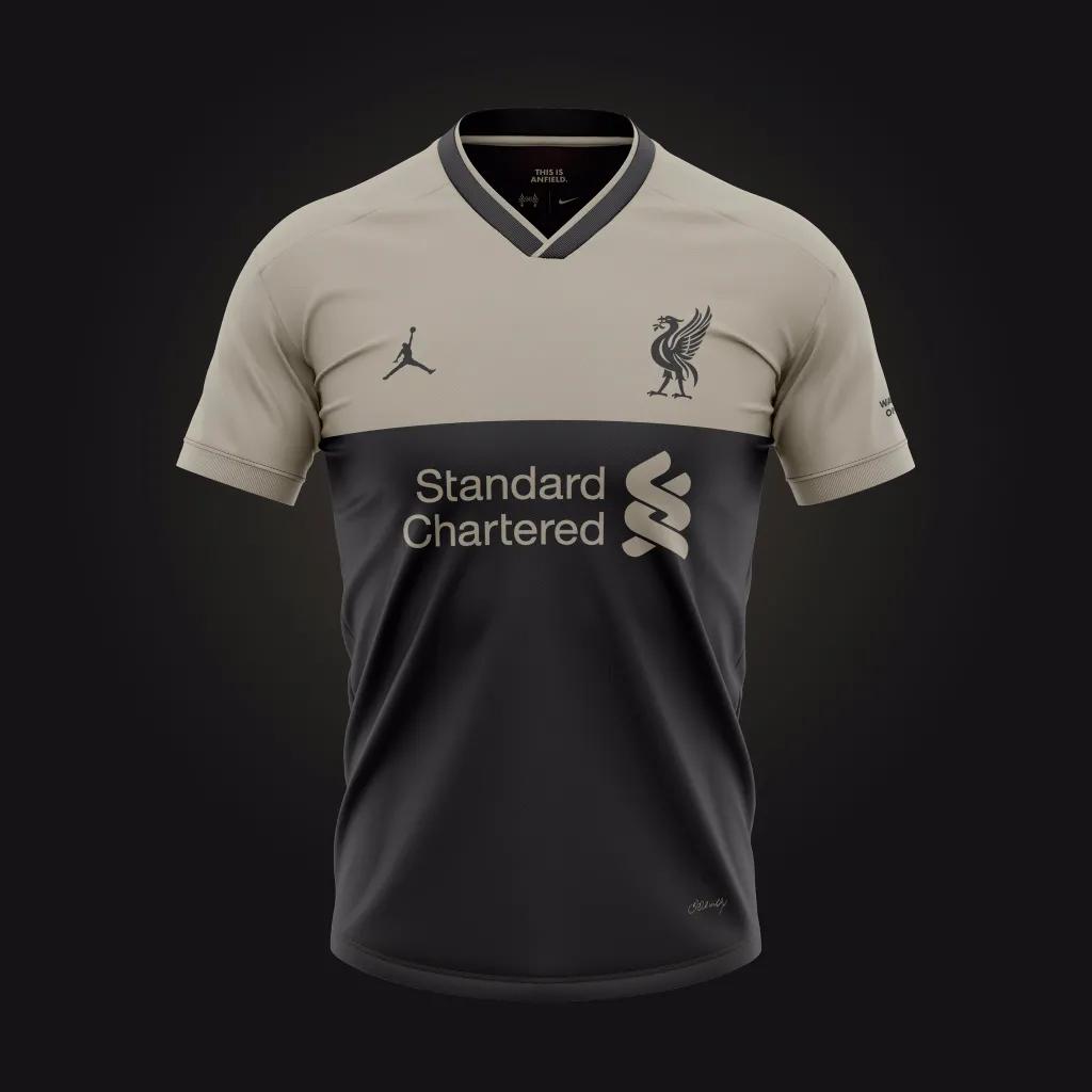 kostum terbaru Desain konsep jersey liverpool ketiga untuk menandingin jersey Liverpool dari Nike