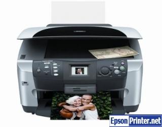 How to reset Epson RX600 printer
