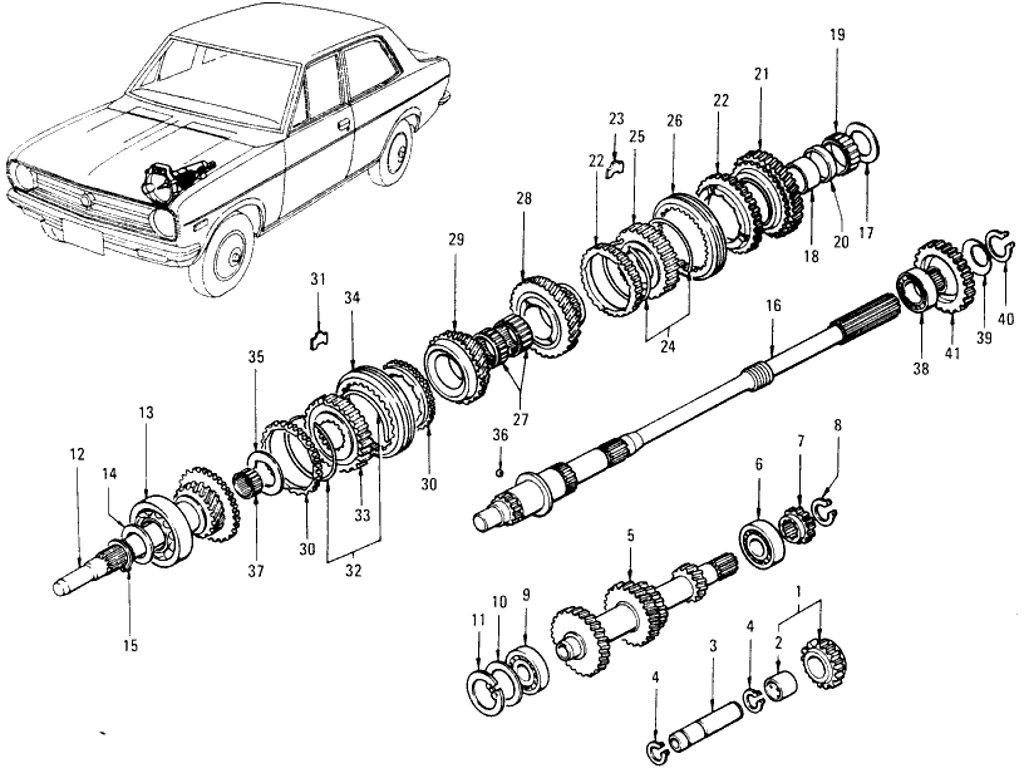 Datsun 1200 Transmission Gir (4 Speed)