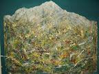 n. 12 Materico - (olio ed acrilico su lastra di gesso) cm 100x80