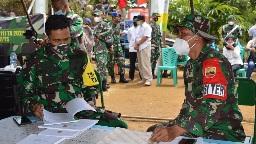 Dansatgas TMMD  Jelaskan Laporan Administrasi Secara Rinci  ke Tim Masev TNI AD