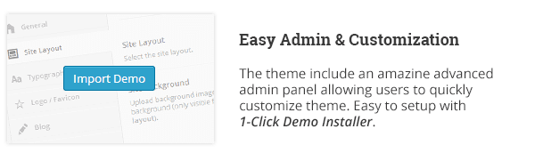 Easy Admin and Customization