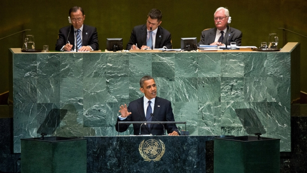 President Obama at UN. White House Photo, Sonya Hebert,