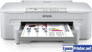 How to reset flashing lights for Epson WorkForce WF-3010 printer