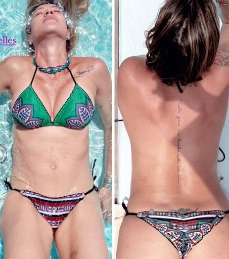 Luana Piovani faz topless durante banho de piscina