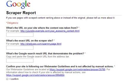 Cómo denunciar contenido duplicado en Google