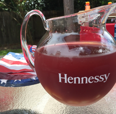 Spoiled Hennessy Punch on deck- 4th of July