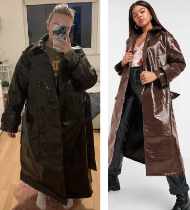 Which Experience Is your worst Expectation vs reality? Woman orders £75 ASOS coat online and is in stitches when it turns up