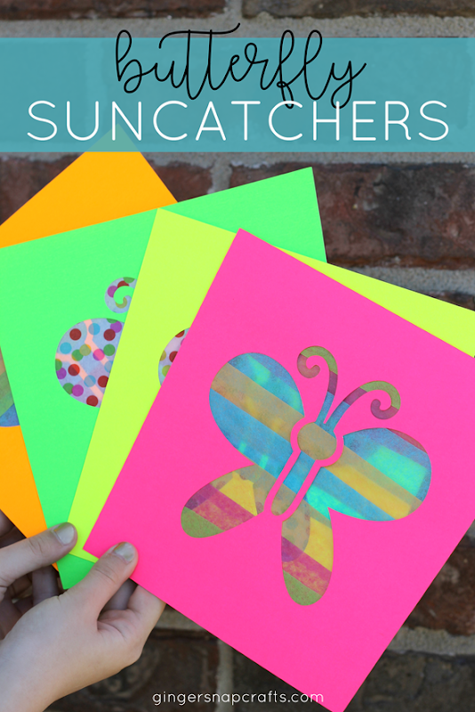 butterfly suncatchers with Cricut #cricut #cricutmade #cricutmaker