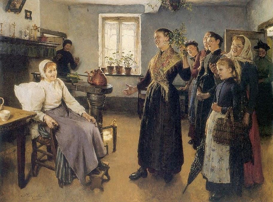 Evariste Carpentier - Visite à la convalescente