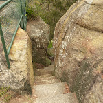 Step rocky steps on the Mt Sugarloaf summit near Newcastle (324200)