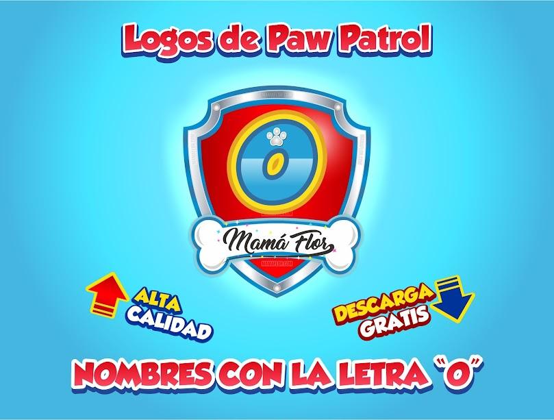 """Paw Patrol: Nombres de Niño con la Letra """"O"""""""