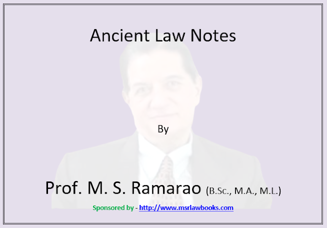 Ancient Law Notes | Sponsored by MSR Law Books