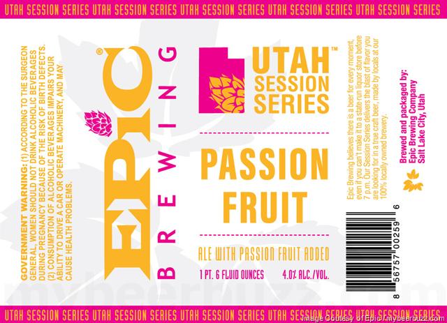 Epic Brewing Utah Session Series - Passion Fruit