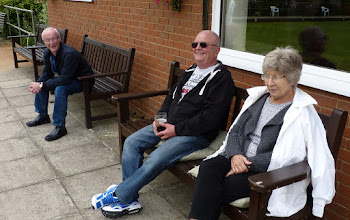 Photo: Brave spectators on a cold day- Ray Want, Les Rushbrooke & Jean Dann.