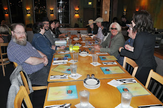 Photo: After the reading two dozen of us trekked over to Coho's restaurant for some late-evening food and drink.