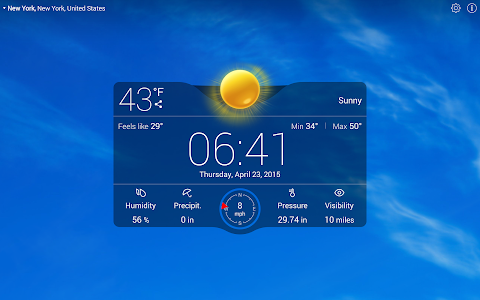 Weather Live with Widgets Free v4.0