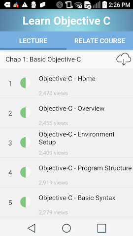 android Learn Objective C Screenshot 0