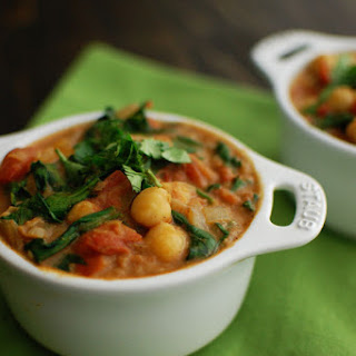 Indian Spiced Chickpeas with Spinach.