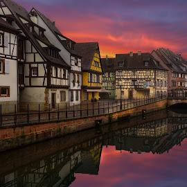 Colmar / France by Arda Erlik - Buildings & Architecture Public & Historical ( sony, reflection, fine art, arda erlik, france, architecture, colmar, city )