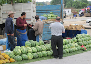 Photo: Day 101 - Melon Stall in Local Market