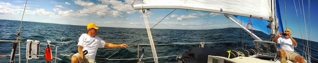 Photo: rare sunshine in the North Passage