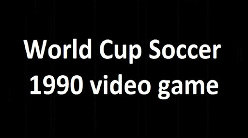 World Soccer Cup 1990  (Video Game) modavailable screenshots 2