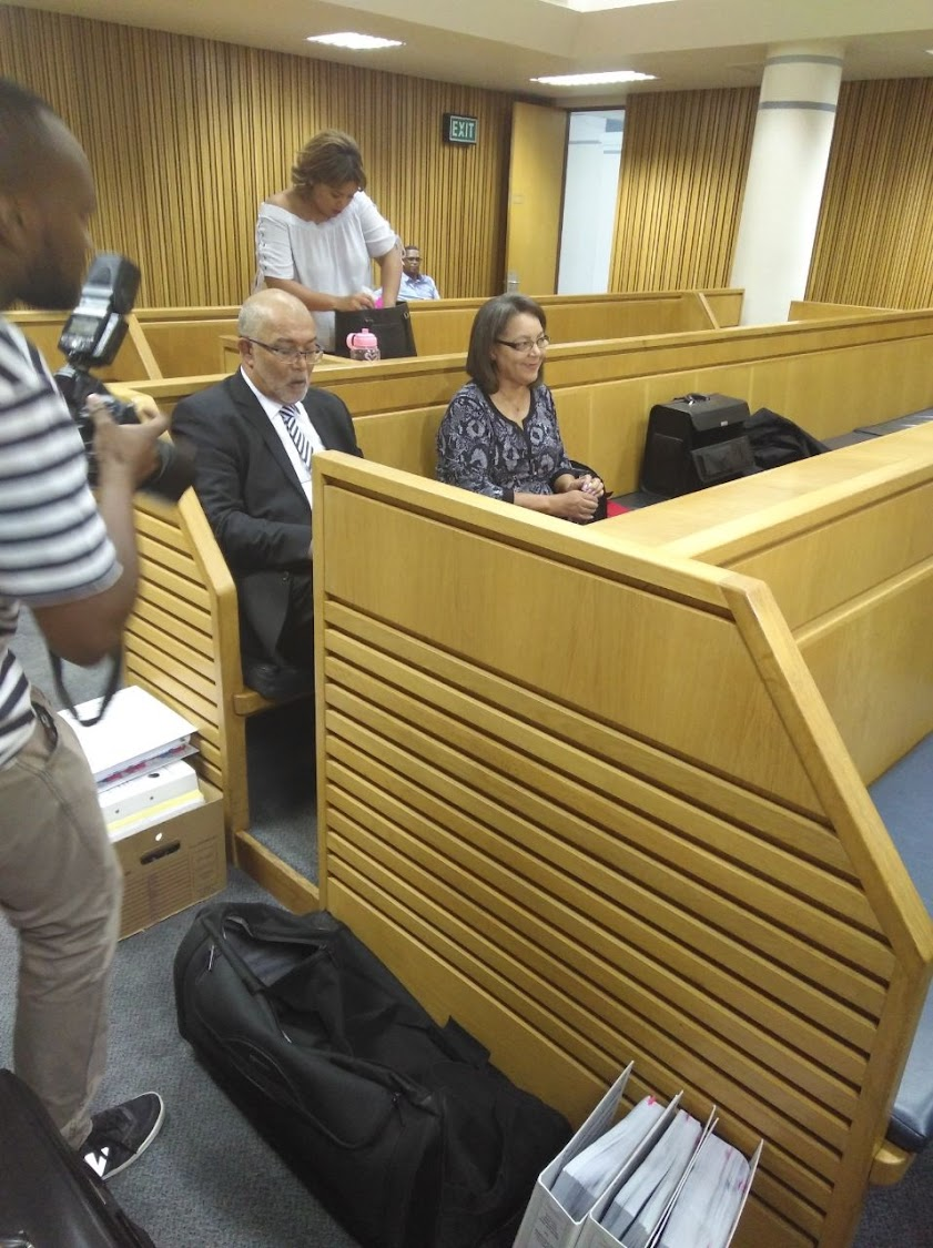 Patricia de Lille and her lawyer, John Ripley, in the High Court in Cape Town.