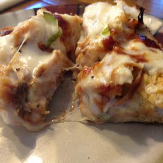 BBQ Chicken Pizza on Garlic Parmesan Focaccia